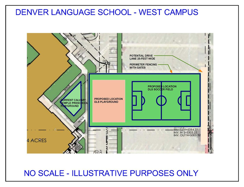 Zoomed in image of the DLS West Campus