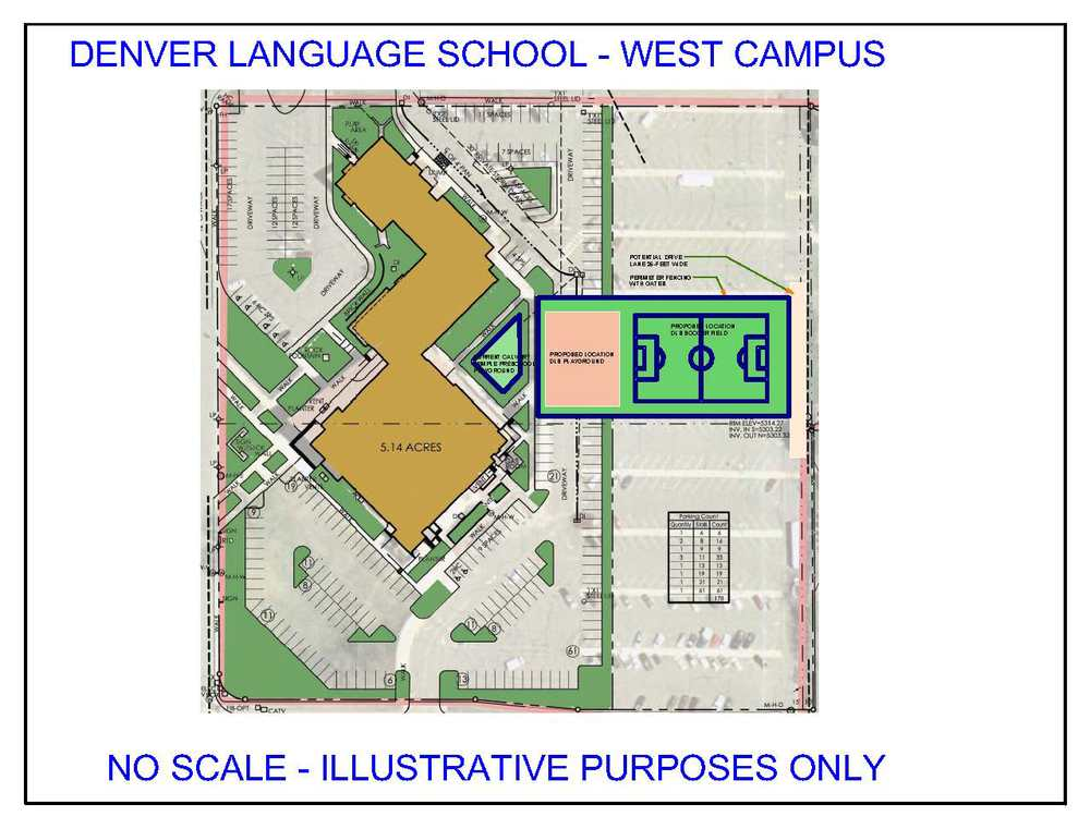 Zoomed out image of the DLS West Campus - Full Image
