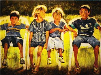 Pintura por Hyatt Moore diciembre 2009