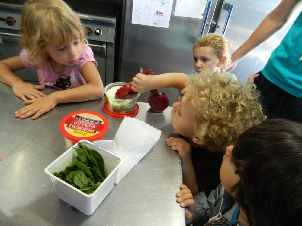 cooking in the camp kitchen, using healthy and fresh ingredients,