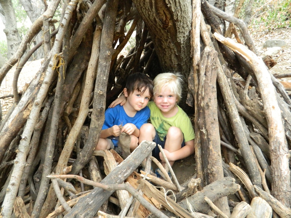 and building forts in the Nature Center.