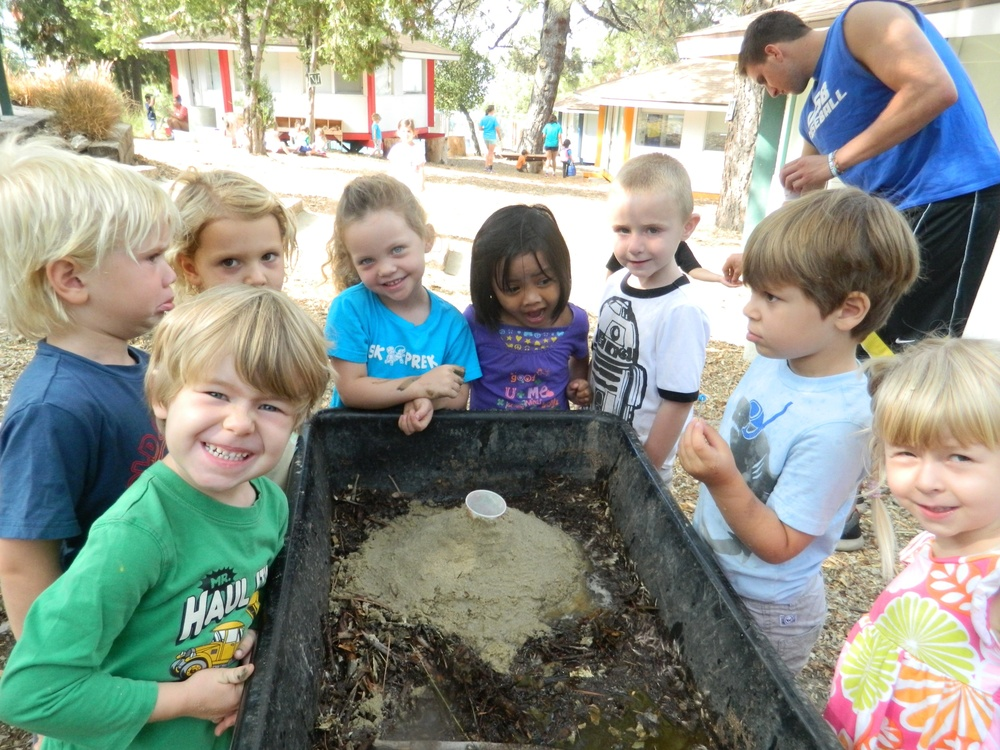 build a sand volcano,