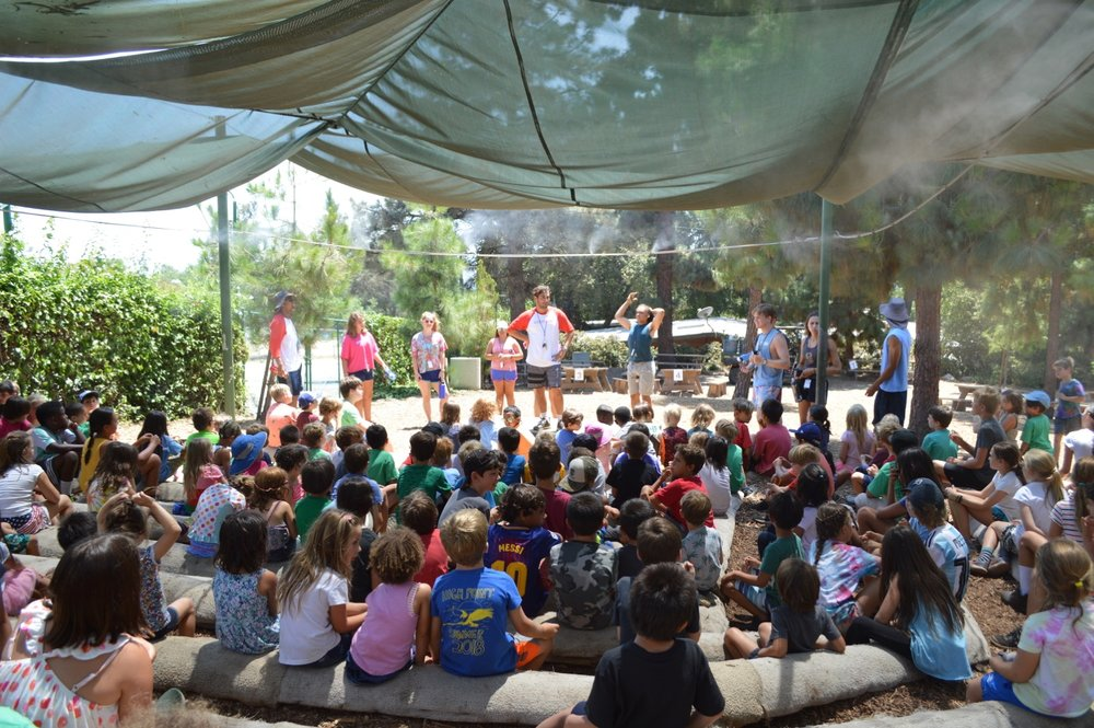 "The Summerkids day begins at ""Campfire."" There's no real fire, we promise!"
