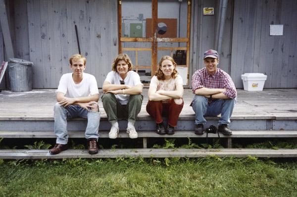 Scott Reeder, Elizabeth Saveri, Rebecca Morris, Matthew Plumb, in front of Van Gogh Studio, 1994