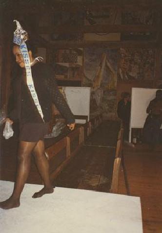 Jones dressed as a Hershey Kiss at the '96 Skowhegan Costume Ball
