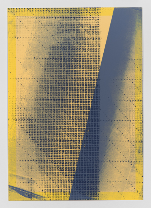 Variable Shadow #1  (Artist's Proof 1)(2014), Acrylic silkscreen on archival pigment print on 100% cotton rag, Unique (series of 25 parametric prints), 17 x 12 inches