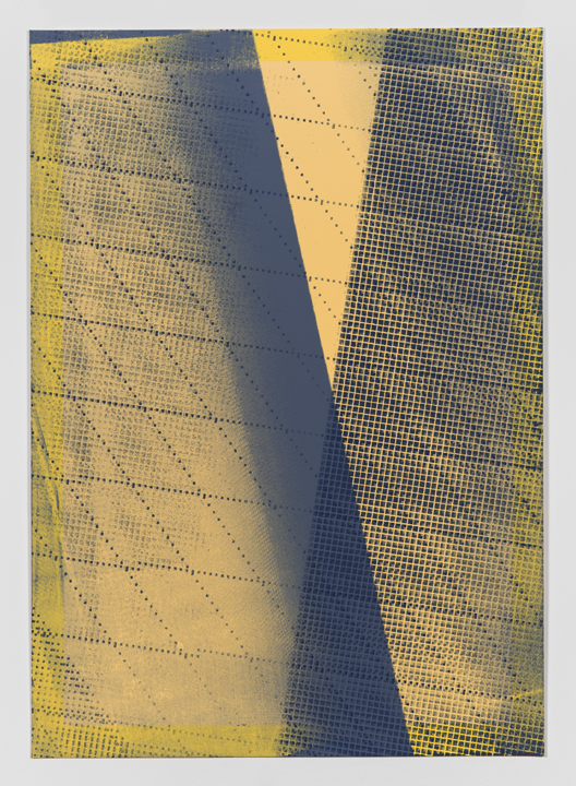 Variable Shadow #1  (Artist's Proof 3)(2014), Acrylic silkscreen on archival pigment print on 100% cotton rag, Unique (series of 25 parametric prints), 17 x 12 inches
