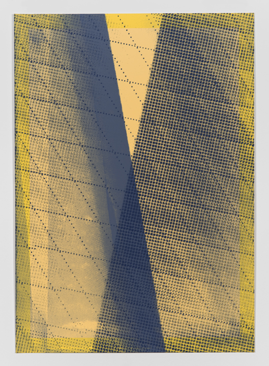 Variable Shadow #1  (Artist's Proof 2)(2014), Acrylic silkscreen on archival pigment print on 100% cotton rag, Unique (series of 25 parametric prints), 17 x 12 inches