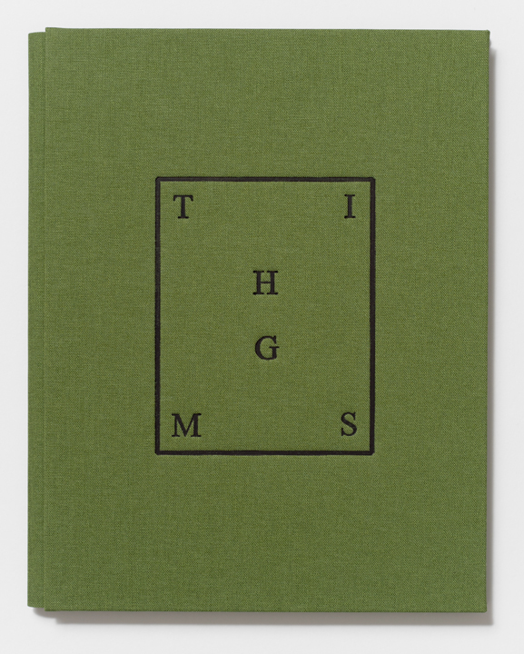 THIMGS  (2014), 8 7/16 x 6 10/16 x 7/16 inches, Printed by the artist and hand-bound by Biruta Auna (Cover detail)
