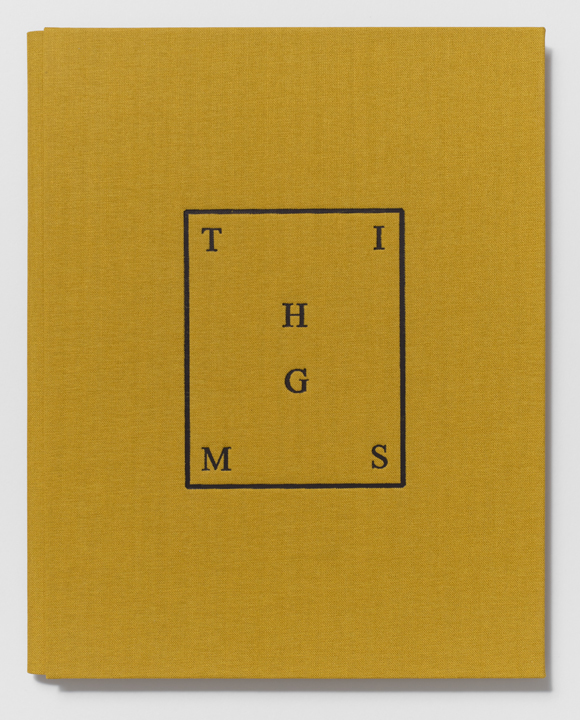 THIMGS  (2014), 9 5/16 x 7 7/16 x 7/16 inches, Printed by the artist and hand-bound by Biruta Auna (Cover detail)