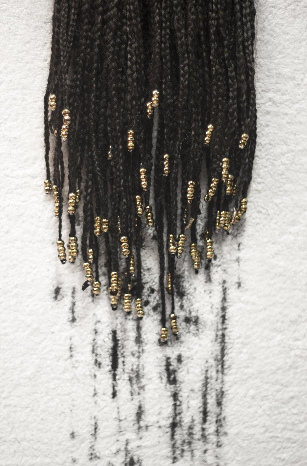 gold beaded trencitas