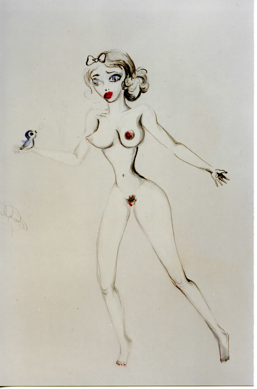 "Ellen Cantor, drawing from ""The Snow White Cycle,"" 2000"