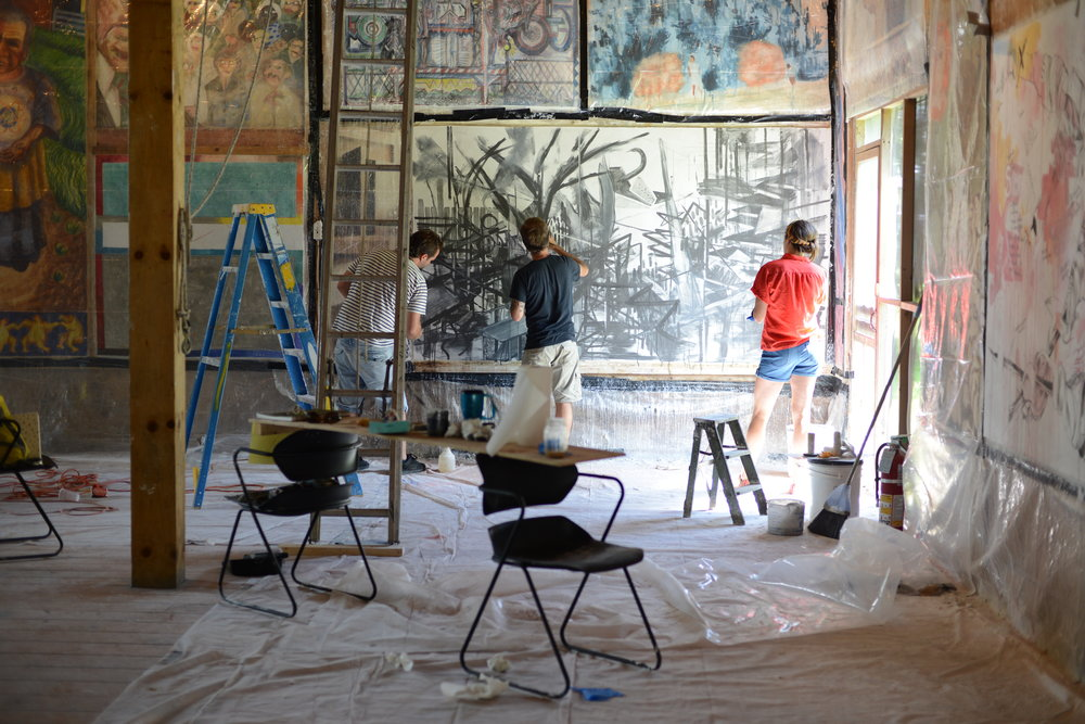 Participants in the Old Dominion Fresco Barn, 2013.