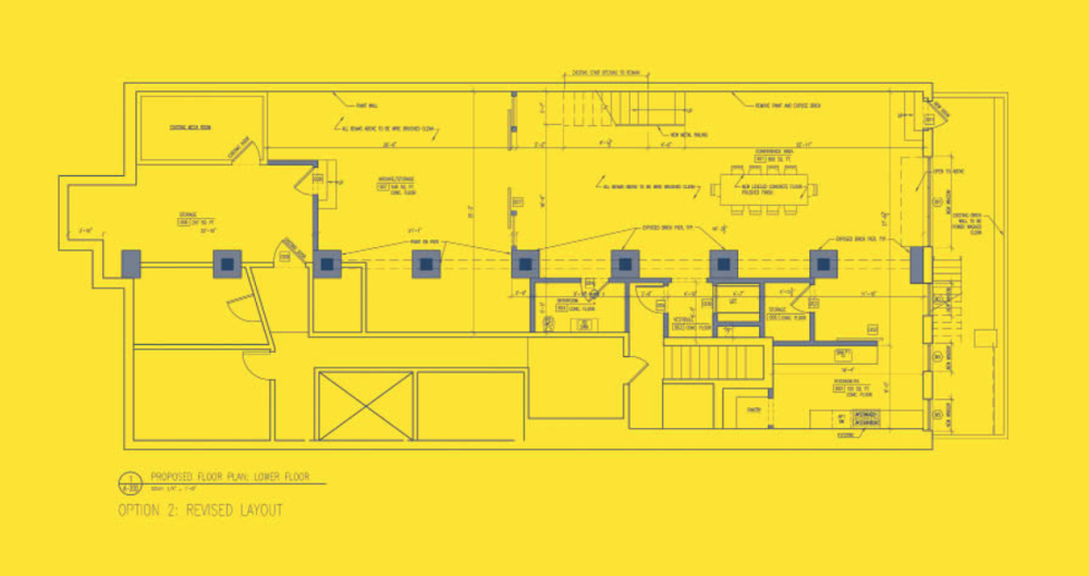 Space Plan as of September 2013, Alan Wanzenberg Architects