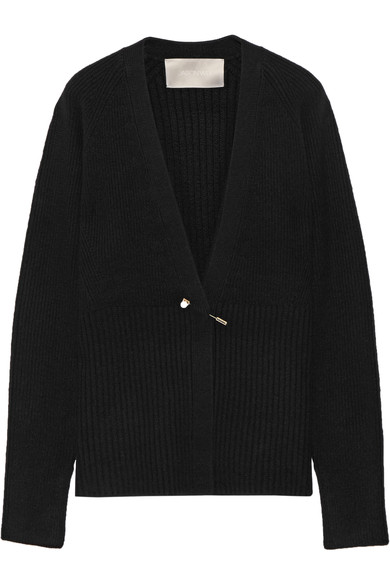 JASON WU - EMBELLISHED RIBBED-KNIT CARDIGAN