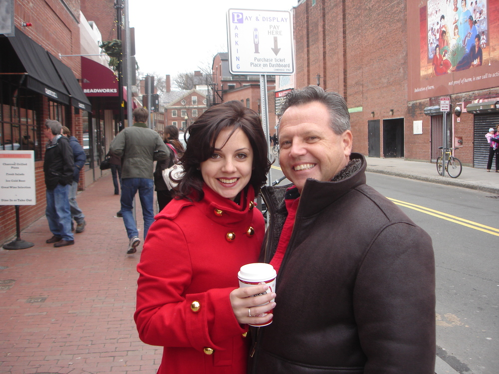 Paige and Doug on project location in Boston