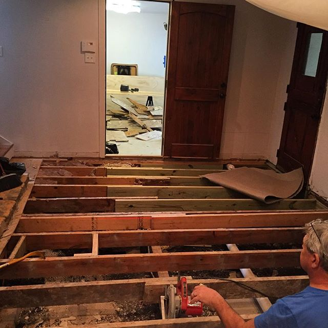 So, this happened. Fixing the subfloor from MASSIVE TERMITE ISSUES. Don't always trust your inspector. Trust the Masters. #termitedamage #termites #dallasrenovation #dallascontractor #dfwcontractor #dfwhomes #dfwrenovation #dallasremodel