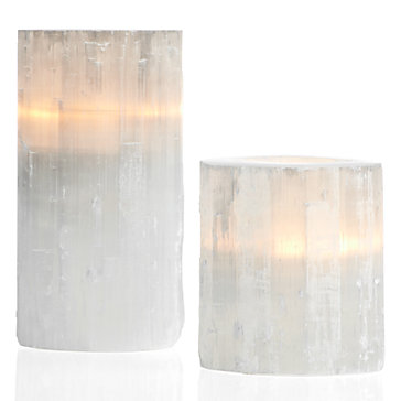 Selenite Votive Holders from  ZGallerie.com .