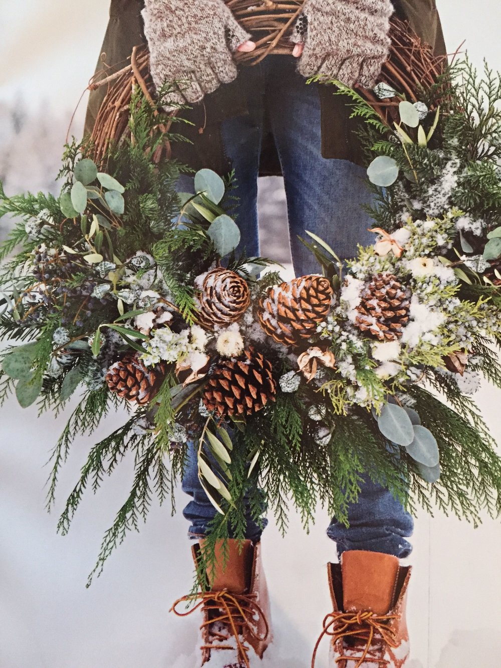 Add eucalyptus to your homemade wreath for a beautiful festive aroma