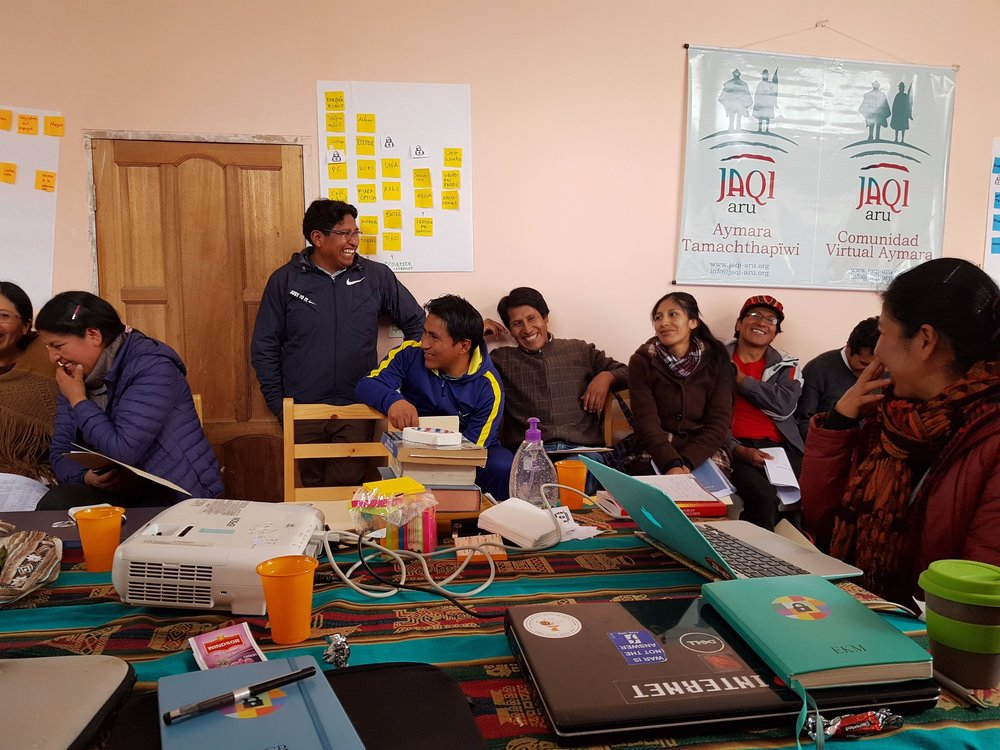 Localization Sprint with  Jaqi Aru  and the Aymara language team in El Alto, Bolivia.