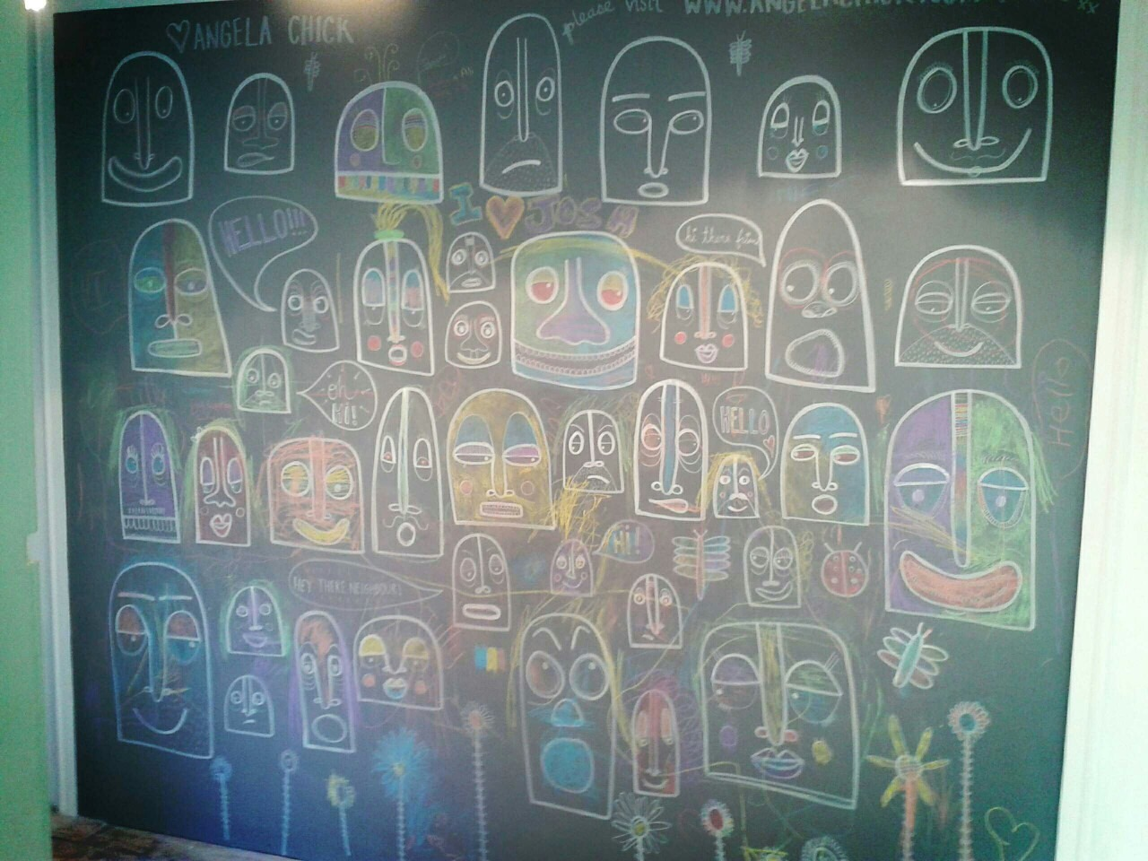 Our drawing wall: made with ♡ by Angela Chick ;)