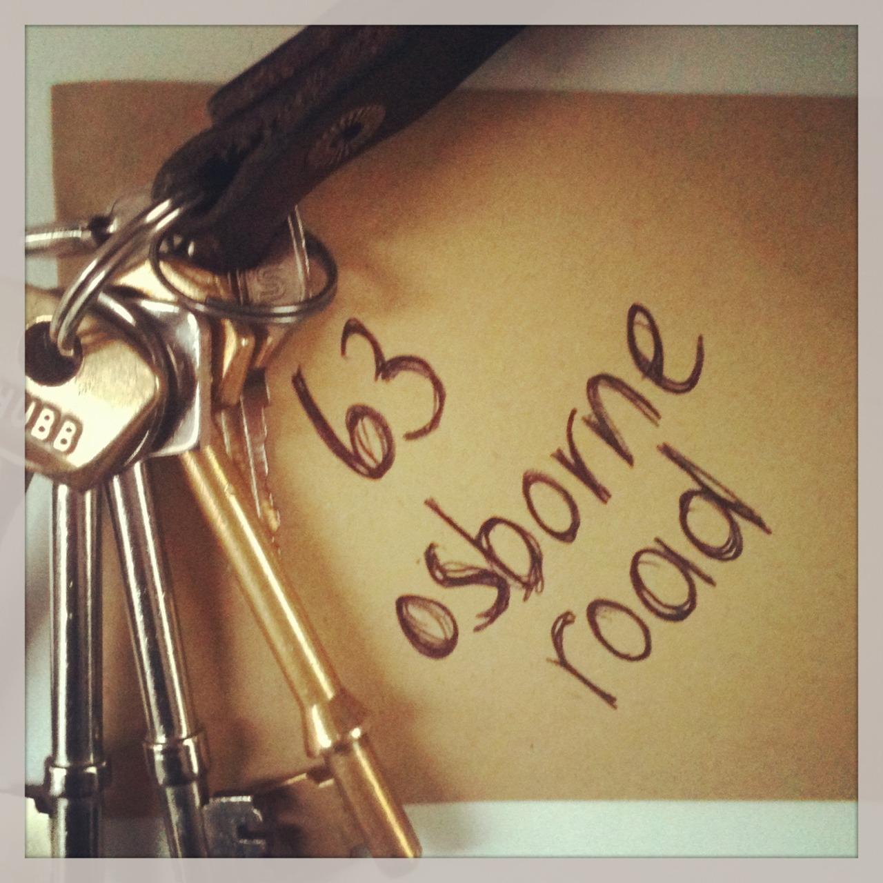 We've got our keys!  Work on the shop starts Monday…