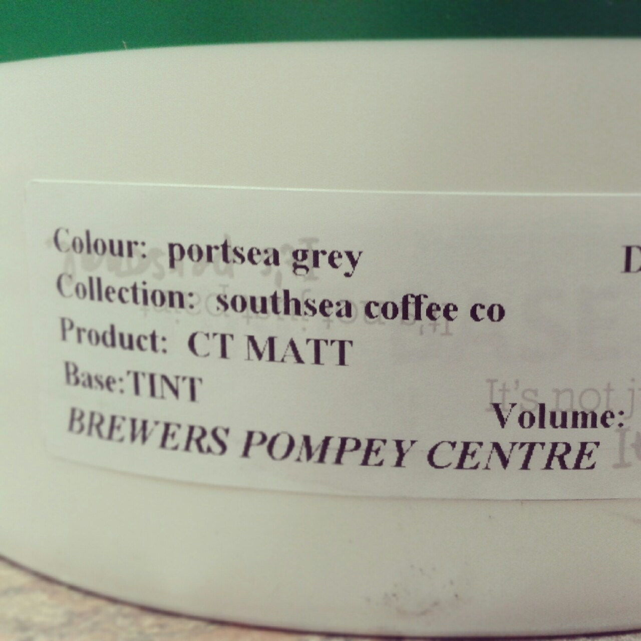 "We've made our own paint…   ""PORTSEA GREY"""