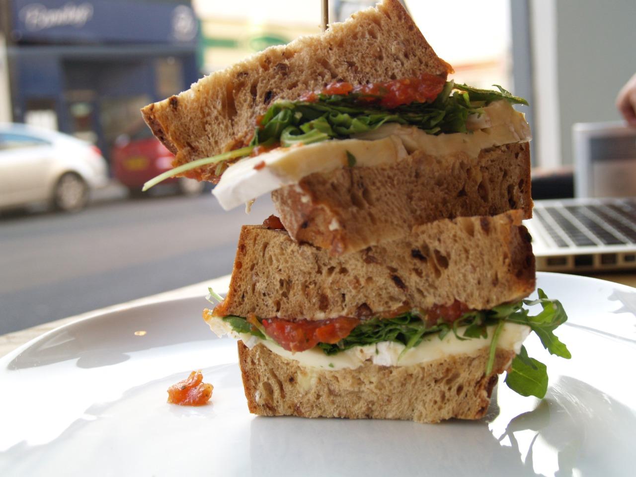 Brie, Spicy Tomato Chutney & Rocket Sandwich…