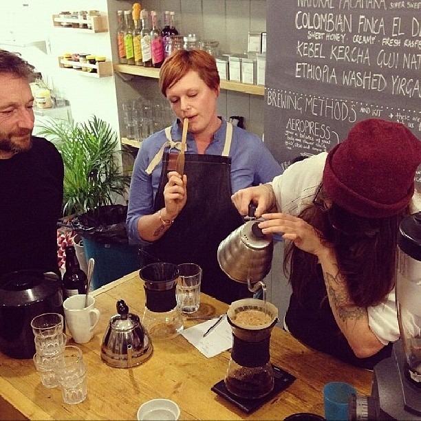 Tonight's coffee tasting as shot by @grobelaar (repost)