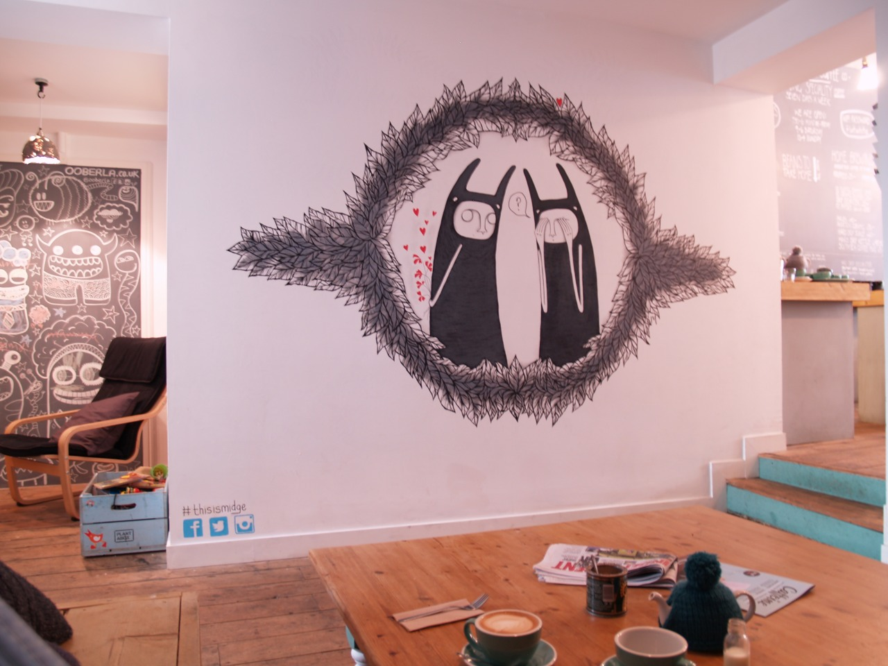 The fabulous mural by Midge will be up for a few more weeks… Catch it whilst you can…