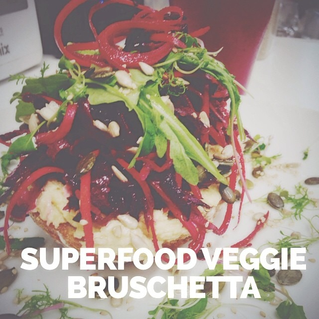 Power charge YOUR lunchtime with our superfood veggie bruschetta. Sourdough toast topped with our homemade hummus, RAW shredded beets + carrots, homegrown microherbs, pumpkin, sunflower & sesame seeds #vegan #healthyfood #southsea  #southseacoffee