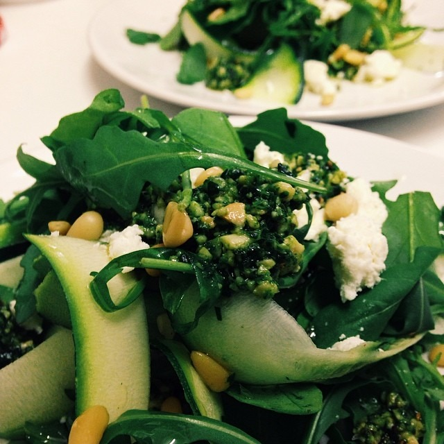Courgette, Feta, Pine Nut & Pesto Salad #southseacoffee #notjustcoffee #getinmybelly