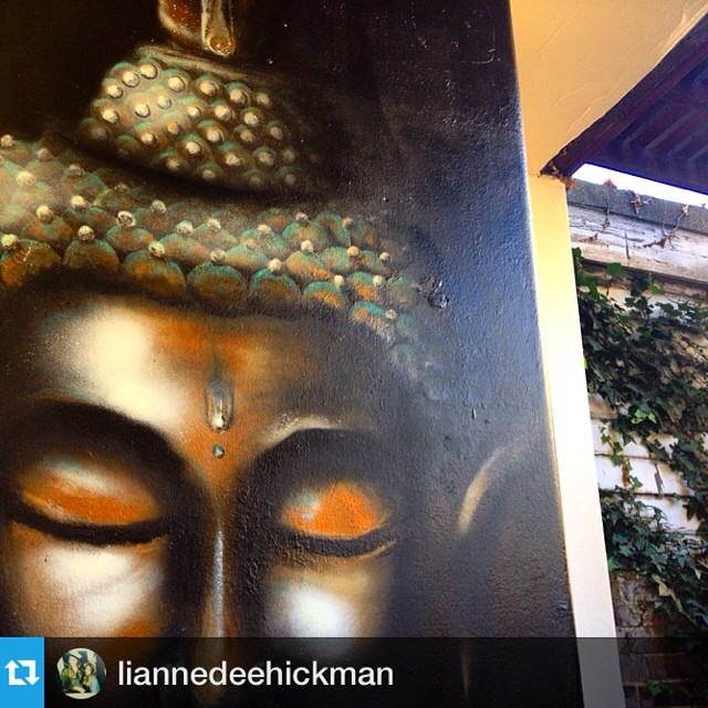 💜 this photo of our Jess Buddha mural #Repost from @liannedeehickman
