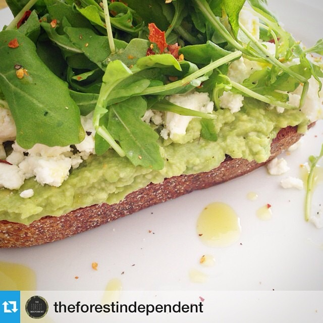 Great shot of our smashed Avos on toast #Repost from @theforestindependent
