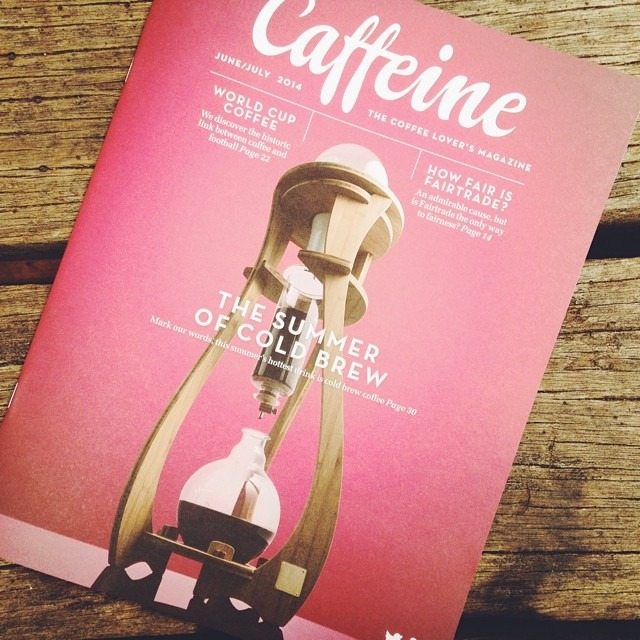 Latest copy of @caffeinemag has just landed. Pick up yours from the shop. Great articles this issue on fair trade and cold brew coffee.