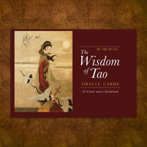 The Wisdom of Tao Oracle Cards    $19.95     The Wisdom of Tao Oracle Cards  is a revolutionary, 45 card system to provide guidance to any situations you may face.  For the first time, the principle and essence of  Tao  is presented within one system, incorporating teachings from Taoist masters, the power of nature's elements, the revelations of zodiac animals, in order to help you gain insight into changes to come.  45 oracle cards  In depth instructional guidebook  Box with magnet closure