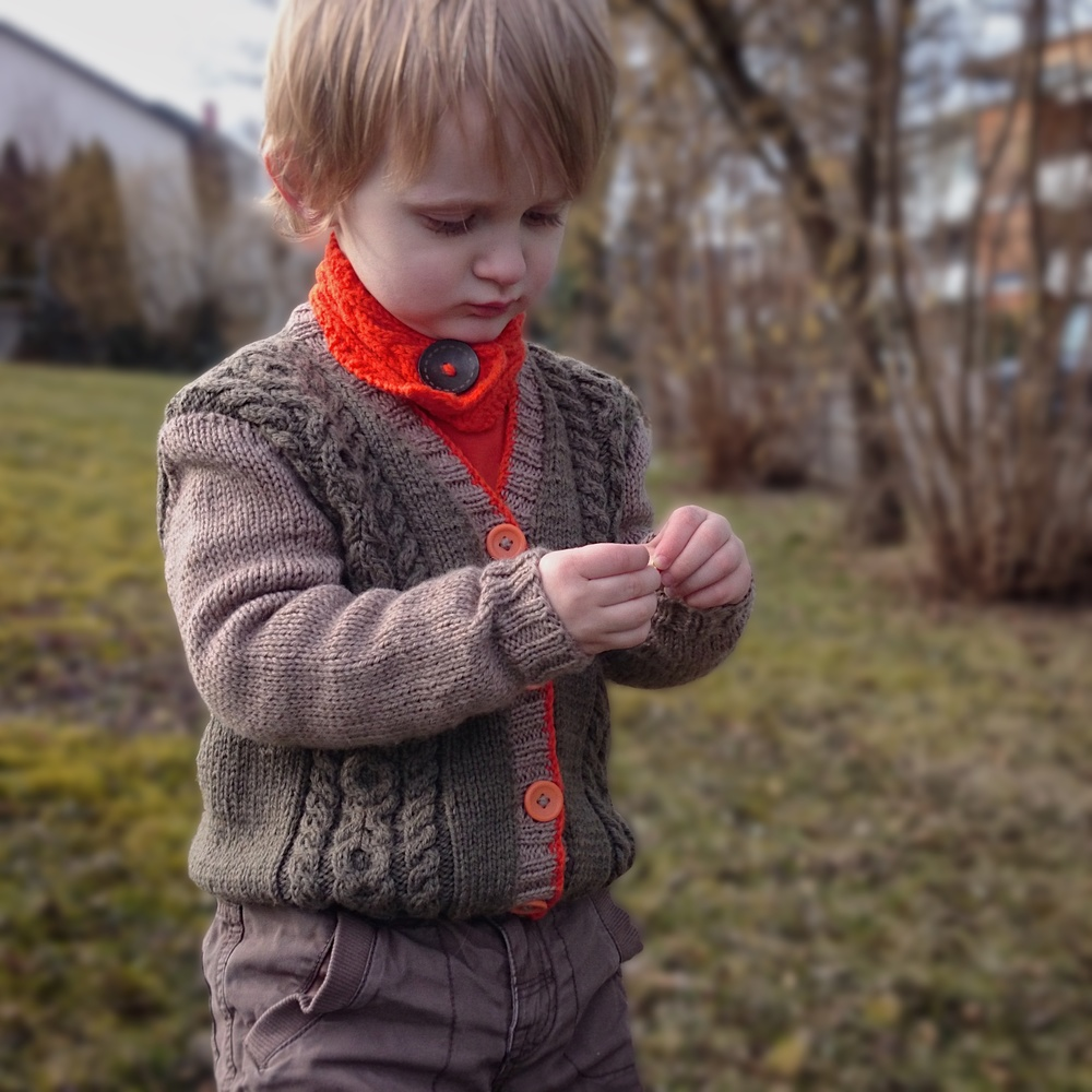 Kissable cardi, sized from 3 months to 4 years