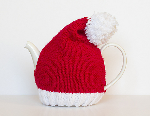 Santa Hat Tea Cosy by Sarah Cooke