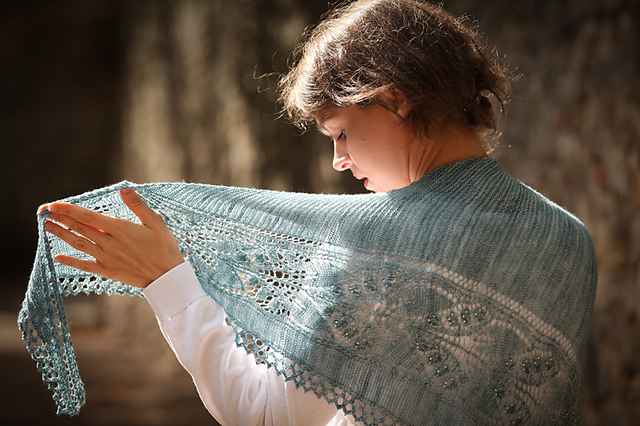 Aglow shawl