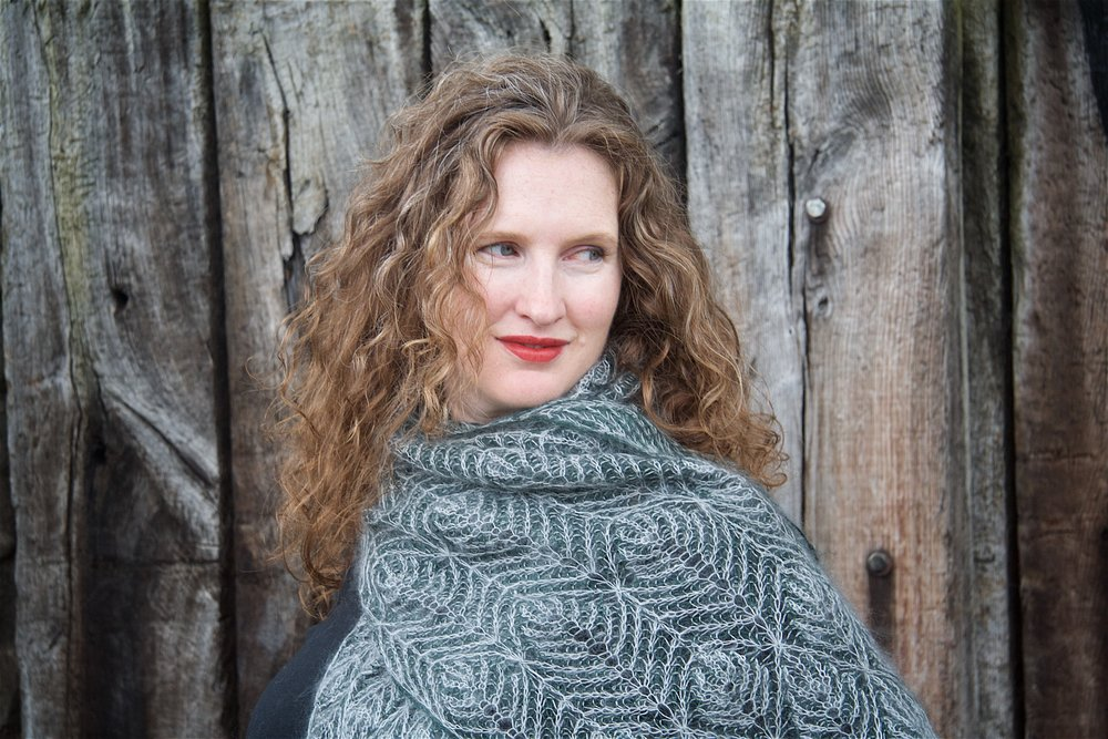 Pravigan ,  from the  Lost in the Woods  collection, is an oversized laceweight brioche scarf – a challenge, but so worth it. The pattern includes a thorough primer for brioche novices.  Buy now.