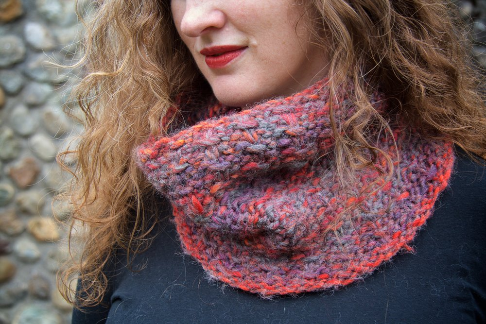 Subscribe to my newsletter to get the Snowmageddon cowl pattern for free!