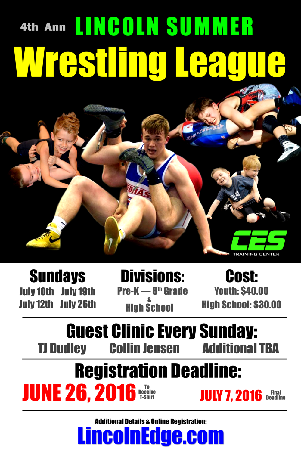 Lincoln Summer Wrestling League - Poster 11 x 17.png