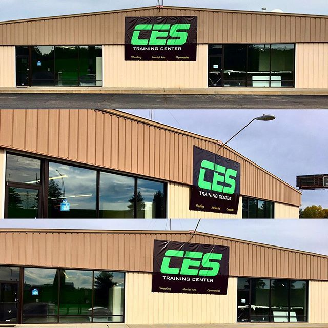 "Signs Up! You're sure to find us now! Competitive Edge Sports located at 2604 Park Blvd #2, Lincoln, Nebraska 68502 ""What's Your Edge?"" #ces"