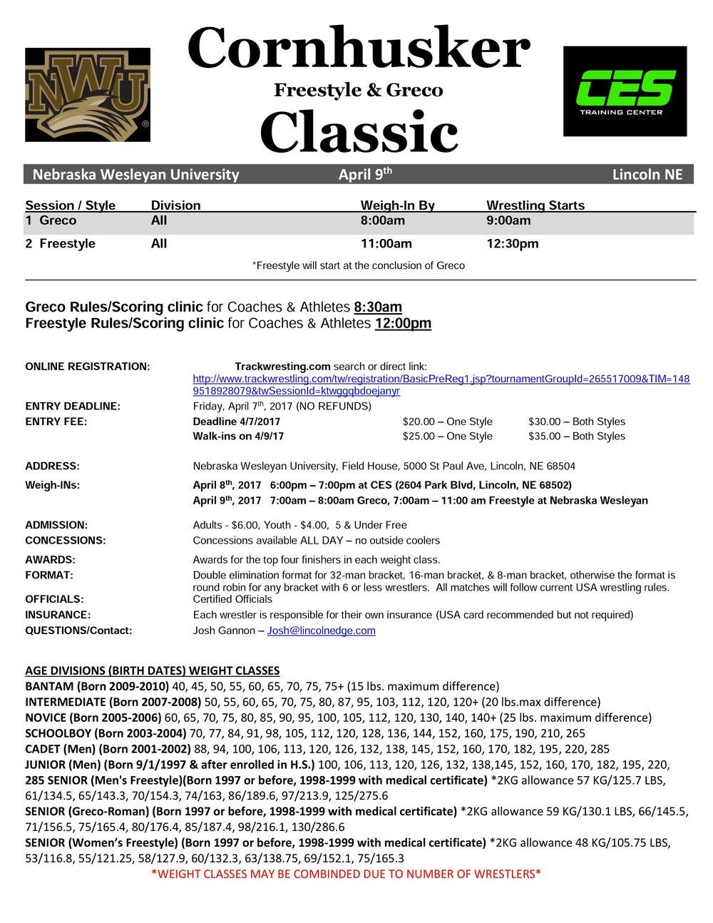 Info Flier - Cornhusker F&G Classic - 2017.jpg