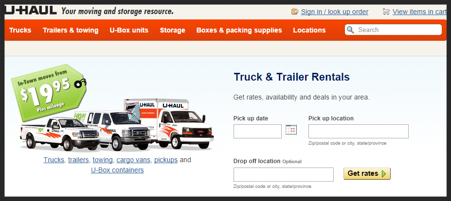 Click on the above image for our online reservation page available through www.uhaul.com.