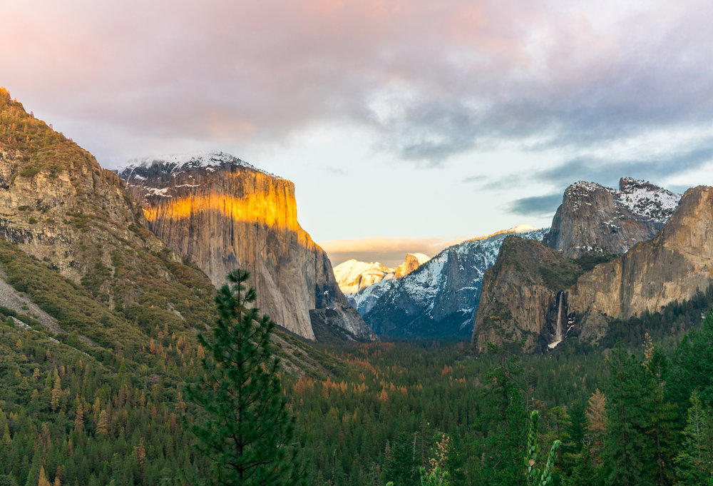 Yosemite National Park is both a UNESCO World Heritage Site, and was one of the first protected parks designated by the United States National Parks Service 1864.