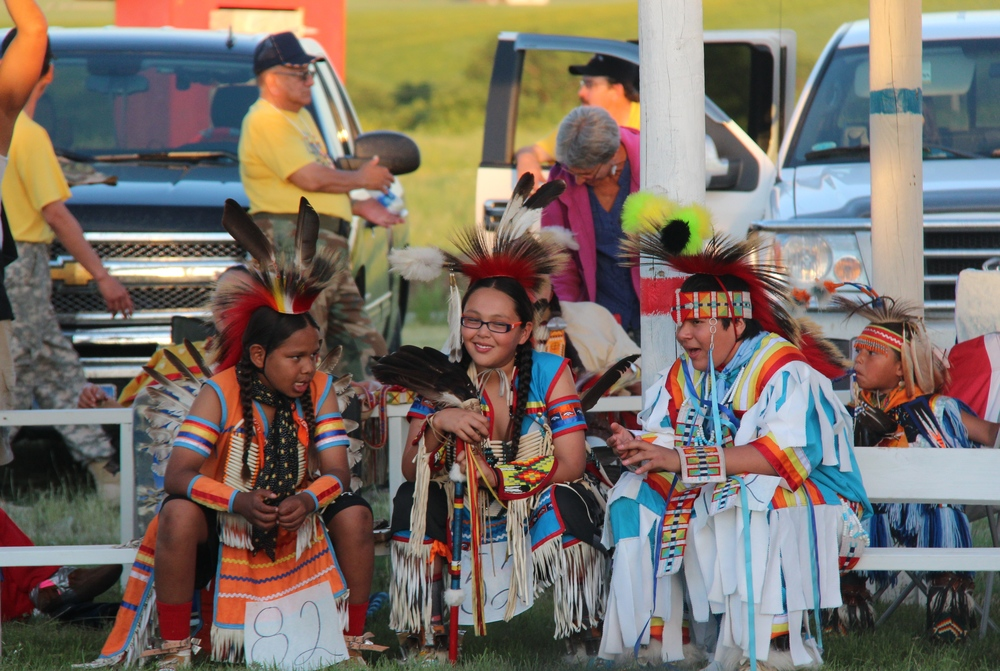All ages participate in the annual powwow held in La Plant