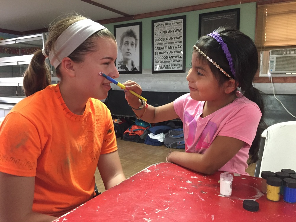 Fun with face paint at camp!