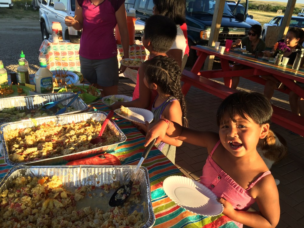 Building community through three town-wide meals per week!