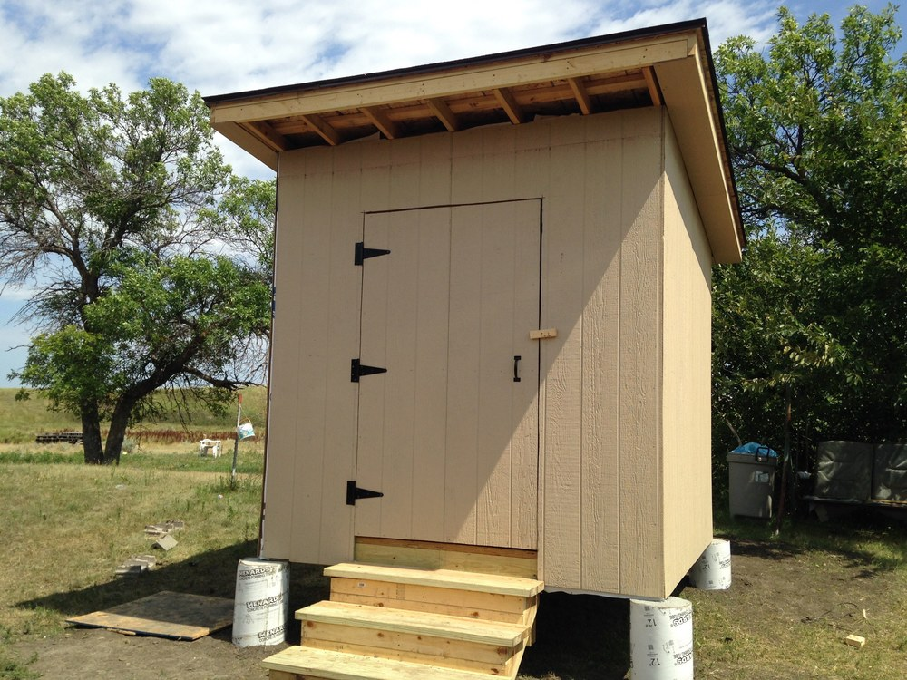 New sheds to hold wood pellets to keep homes warm!